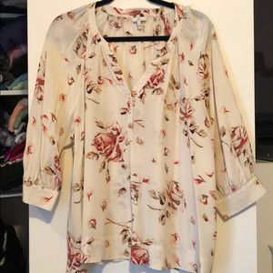 Joie silk floral blouse tunic top